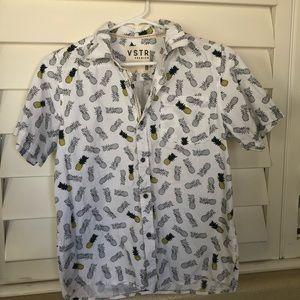 Boys Large Button-Up Short Sleeve Shirt